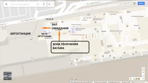 Аэропорт Ниццы. Схема терминала 1